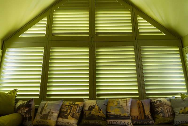 Green bespoke blinds